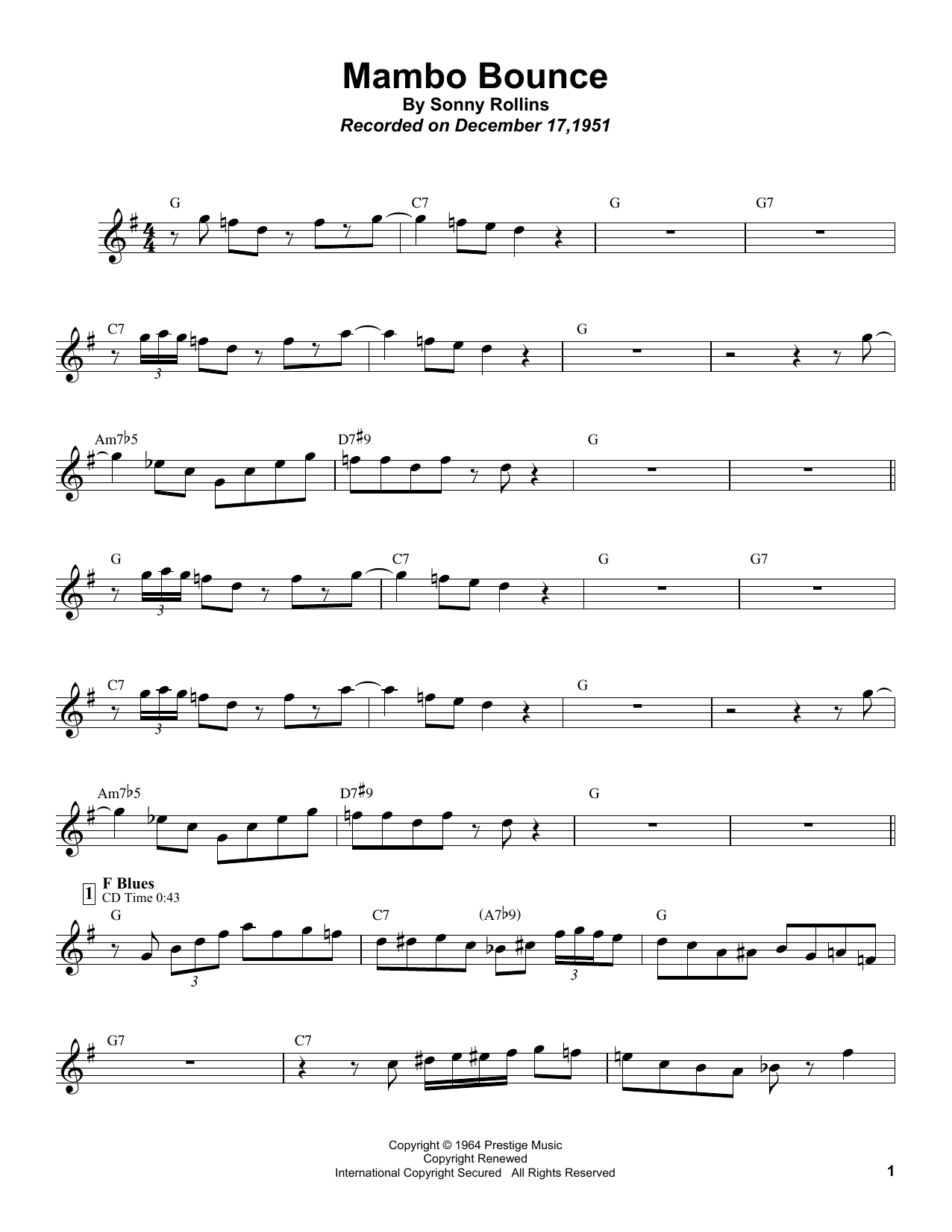Mambo Bounce Sheet Music