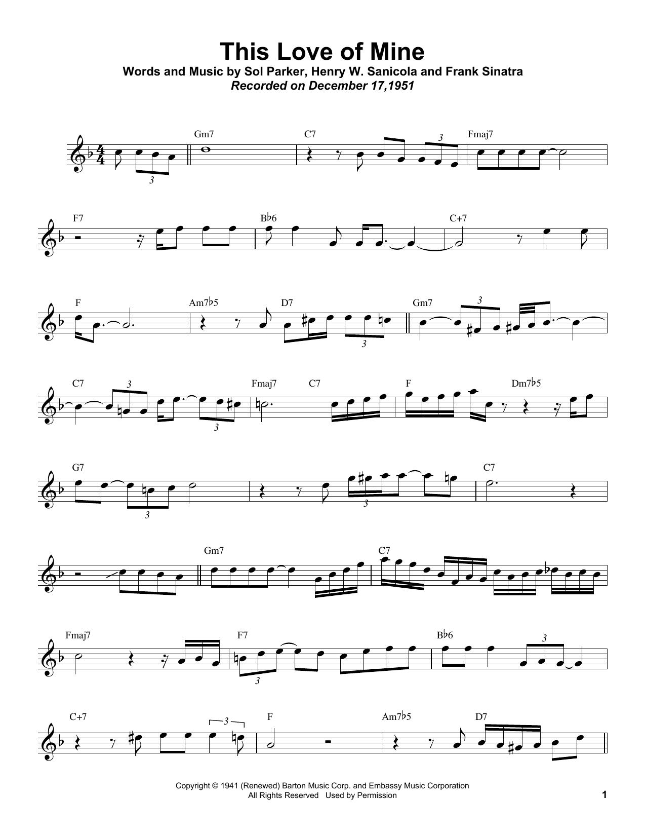 This Love Of Mine Sheet Music