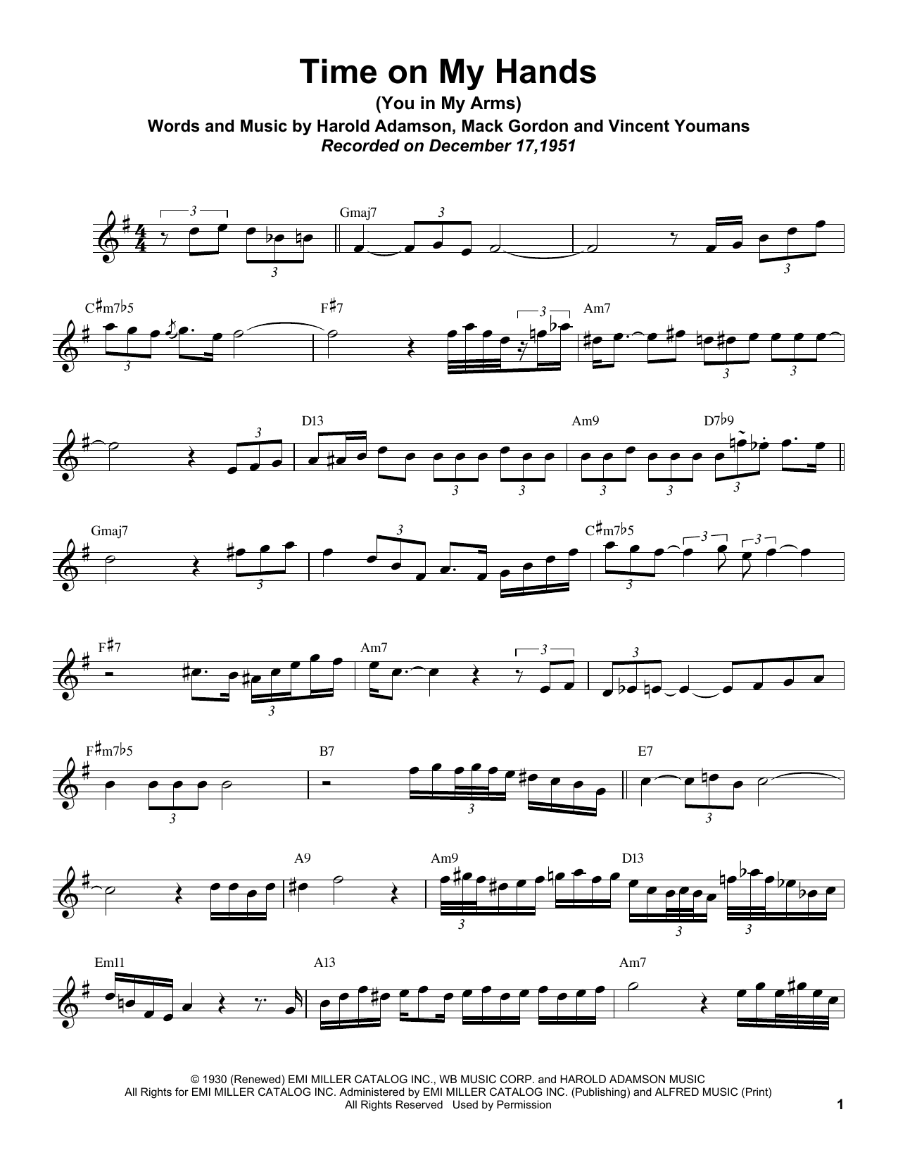 Time On My Hands (You In My Arms) Sheet Music