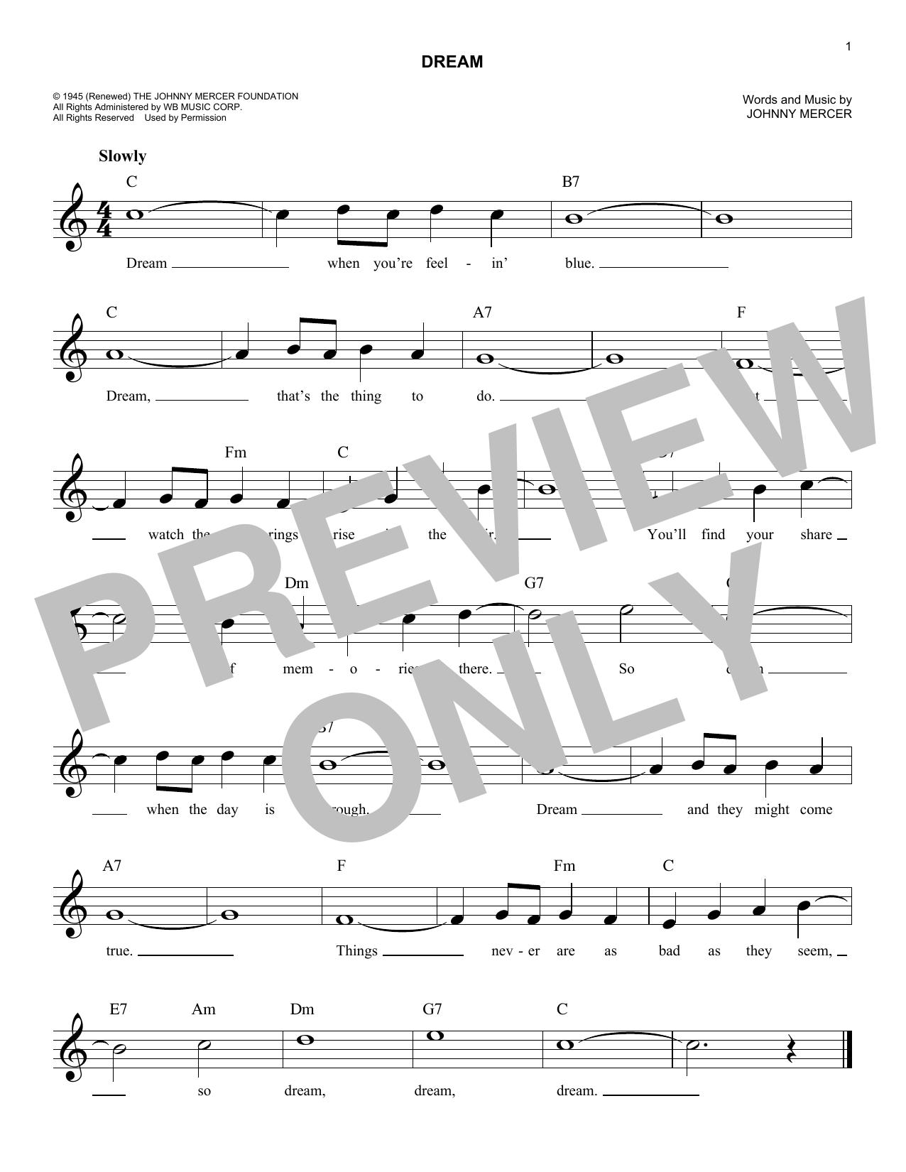 Dream Sheet Music