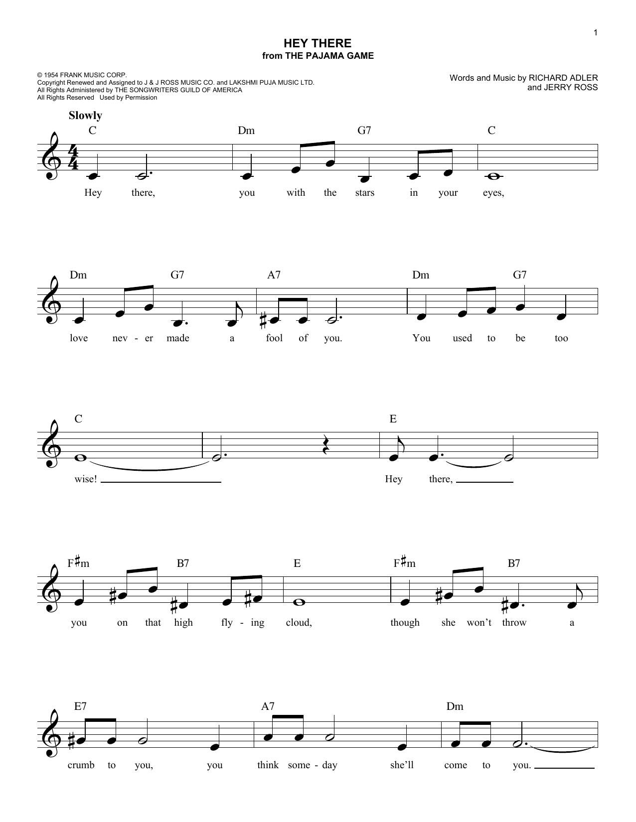 Hey There Sheet Music