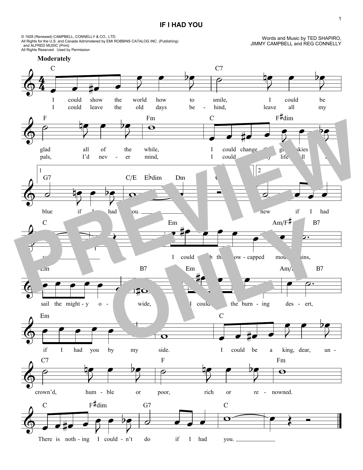If I Had You Sheet Music