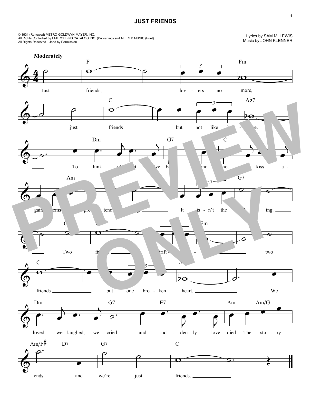 Just Friends Sheet Music
