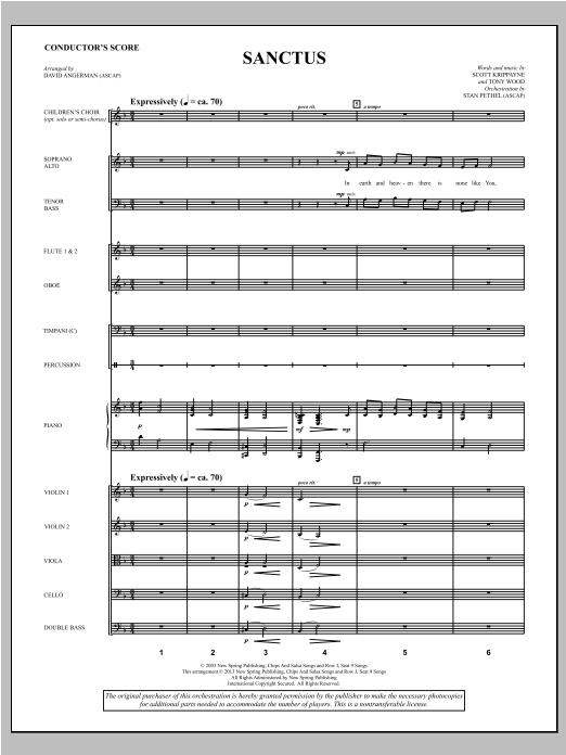 Sanctus - Score Sheet Music