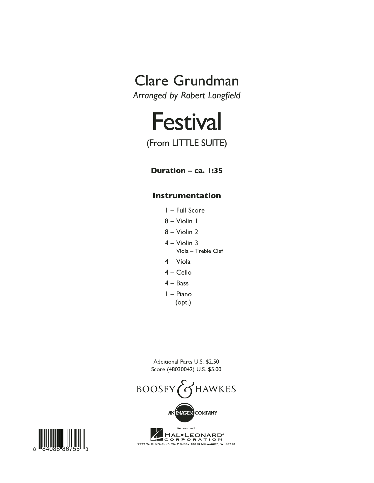 Festival (from Little Suite) - Conductor Score (Full Score) Sheet Music