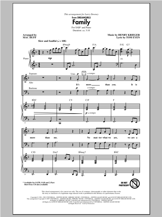 Family (arr. Mac Huff) Sheet Music