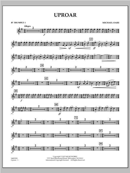 Uproar - Bb Trumpet 1 Sheet Music