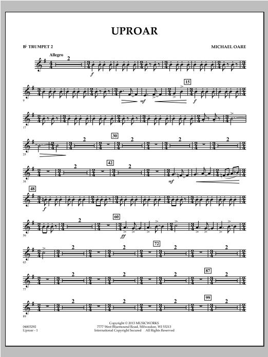 Uproar - Bb Trumpet 2 Sheet Music
