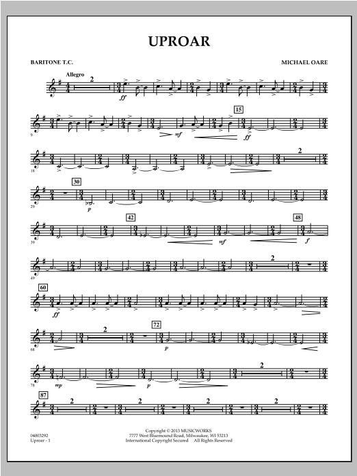 Uproar - Baritone T.C. Sheet Music