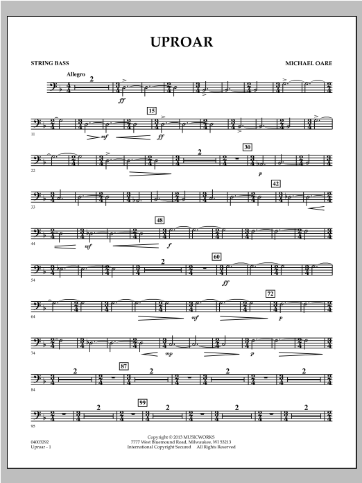 Uproar - String Bass Sheet Music