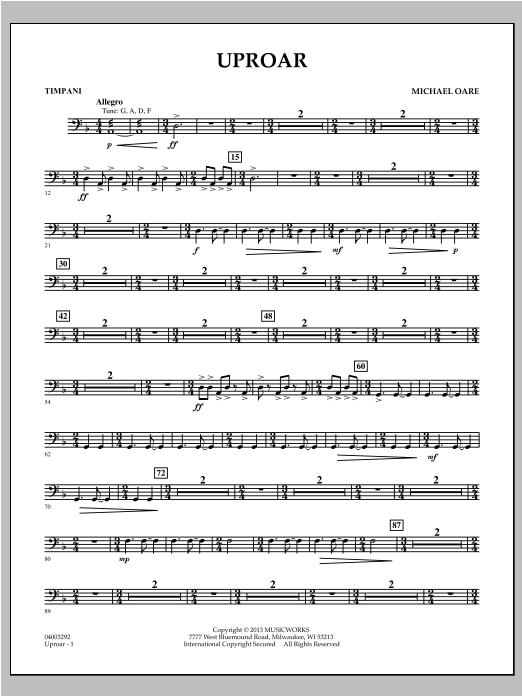 Uproar - Timpani Sheet Music