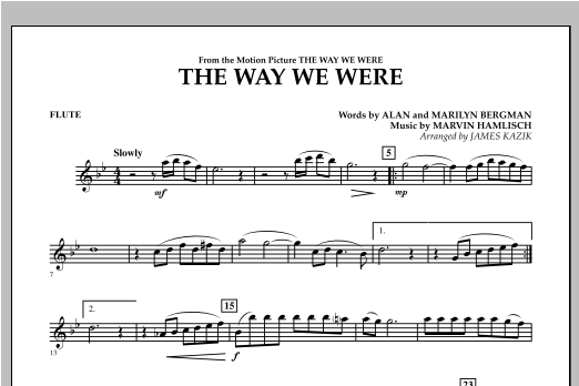 The Way We Were - Flute Sheet Music