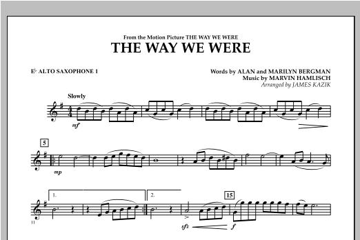 The Way We Were - Eb Alto Saxophone 1 Sheet Music