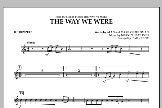 The Way We Were - Bb Trumpet 1 Sheet Music