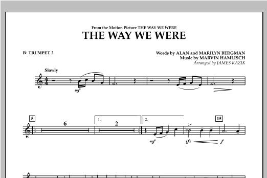 The Way We Were - Bb Trumpet 2 Sheet Music