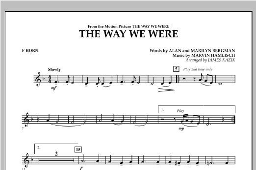 The Way We Were - F Horn Sheet Music