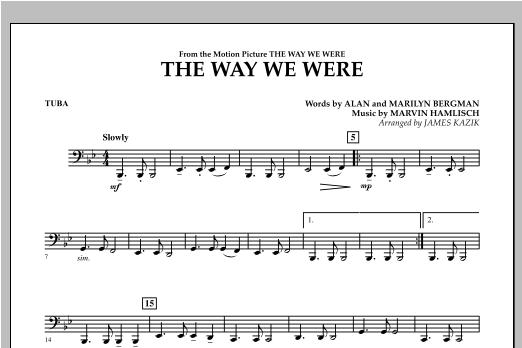 The Way We Were - Tuba Sheet Music