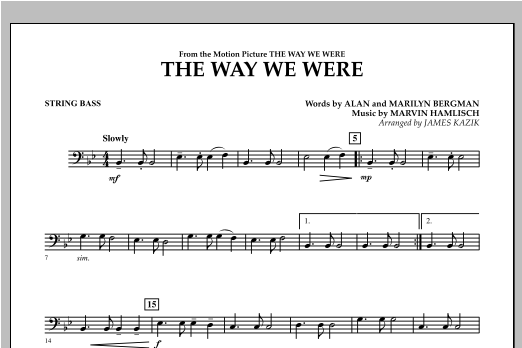 The Way We Were - Bass Sheet Music