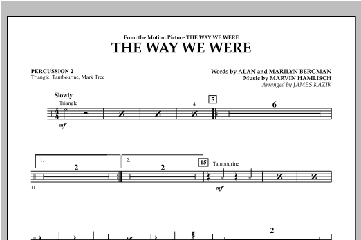 The Way We Were - Percussion 2 Sheet Music