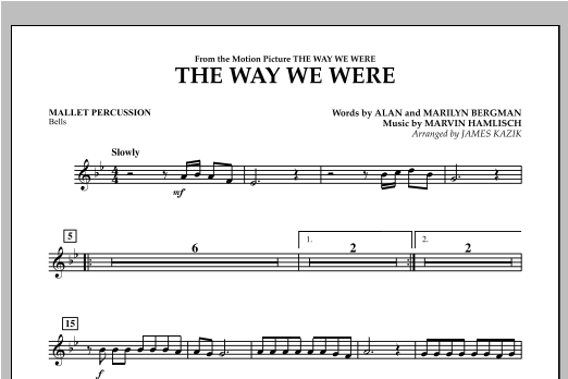 The Way We Were - Mallet Percussion Sheet Music