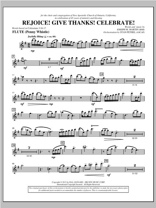 Rejoice! Give Thanks! Celebrate! - Flute Sheet Music