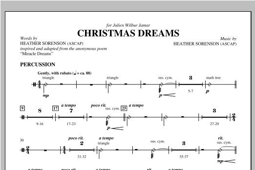 Christmas Dreams - Percussion Sheet Music