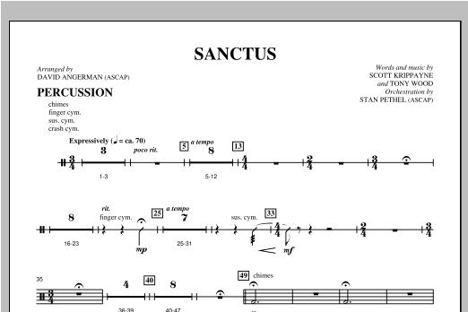 Sanctus - Percussion (Choir Instrumental Pak)