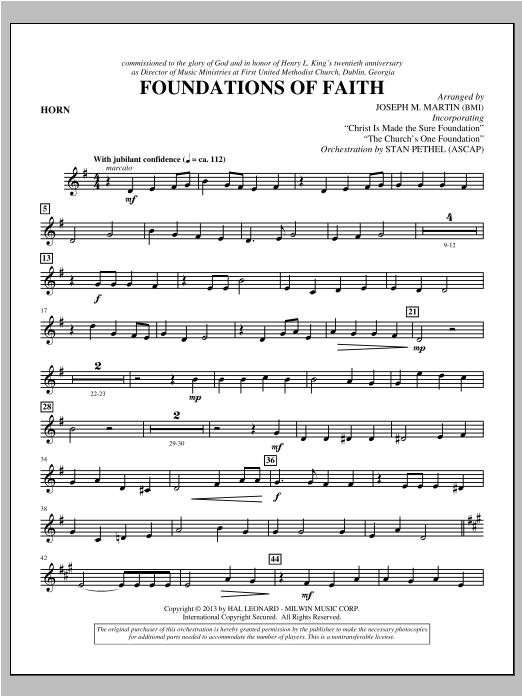 Foundations of Faith - F Horn (Choir Instrumental Pak)