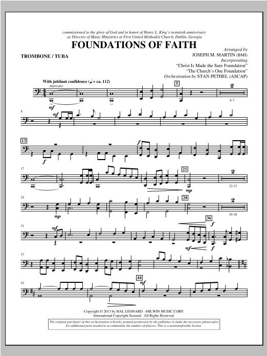 Foundations of Faith - Trombone/Tuba Sheet Music