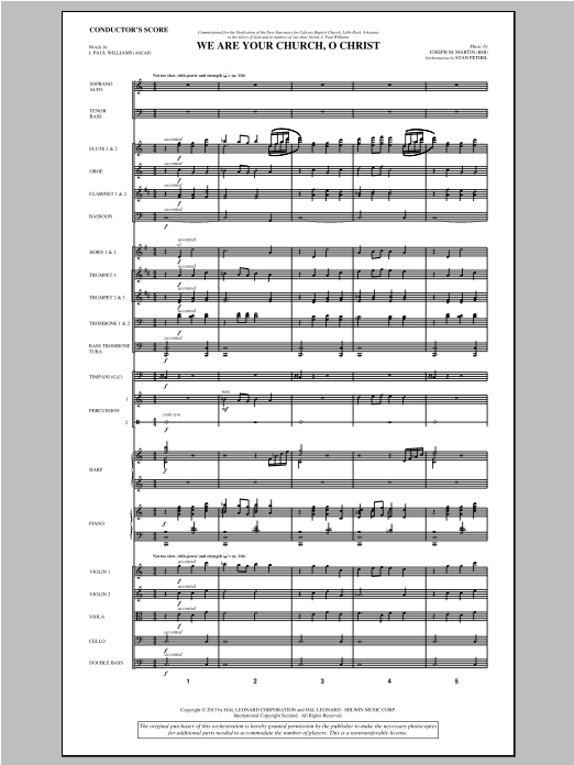 We Are Your Church, O Christ (COMPLETE) sheet music for orchestra/band by Joseph Martin, J. Paul Williams and Joseph M. Martin. Score Image Preview.