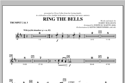 Ring the Bells - Bb Trumpet 2,3 Sheet Music