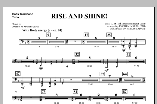 Rise And Shine! (from Ceremony Of Candles) - Bass Trombone/Tuba Sheet Music