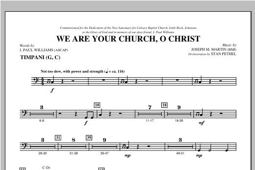 We Are Your Church, O Christ - Timpani Sheet Music