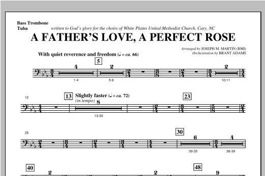 A Father's Love, A Perfect Rose (from Festival Of Carols) - Bass Trombone/Tuba Sheet Music