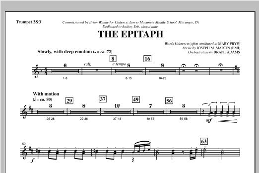 The Epitaph - Bb Trumpet 2,3 Sheet Music