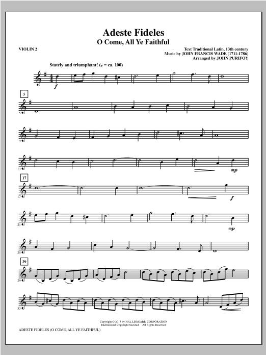 Adeste Fideles - Violin 2 (Choir Instrumental Pak)