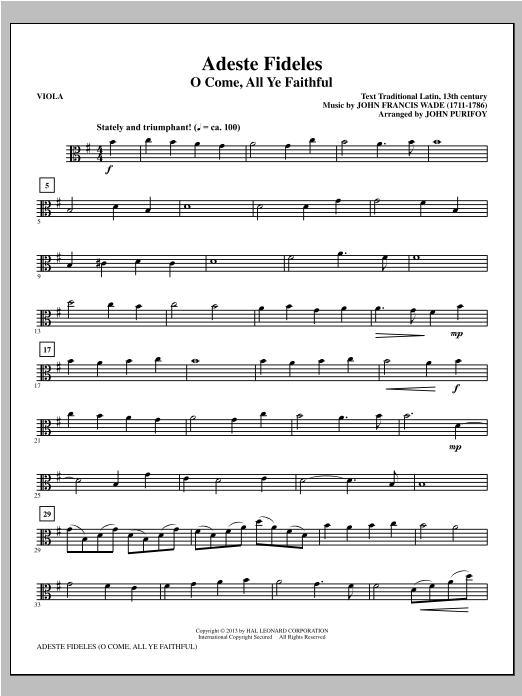 Adeste Fideles - Viola Partituras Digitales