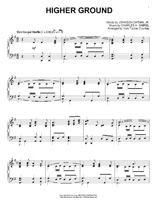Higher Ground Sheet Music