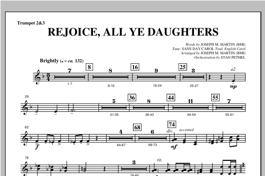 "Rejoice, All Ye Daughters (from ""season Of Wonders"") - Bb Trumpet 2,3 Sheet Music"