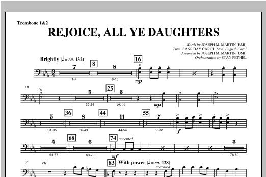 "Rejoice, All Ye Daughters (from ""season Of Wonders"") - Trombone 1 & 2 Sheet Music"