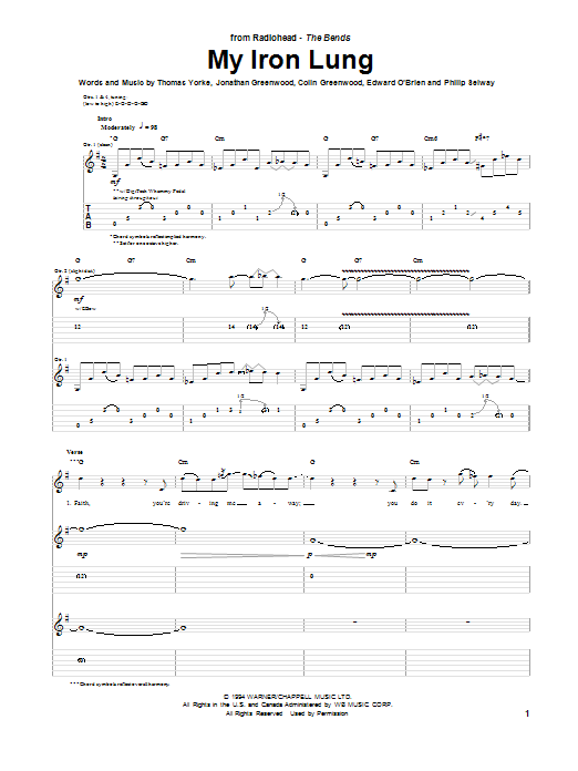 My Iron Lung (Guitar Tab)