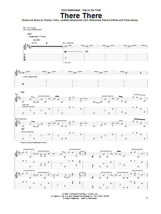There There (Guitar Tab)