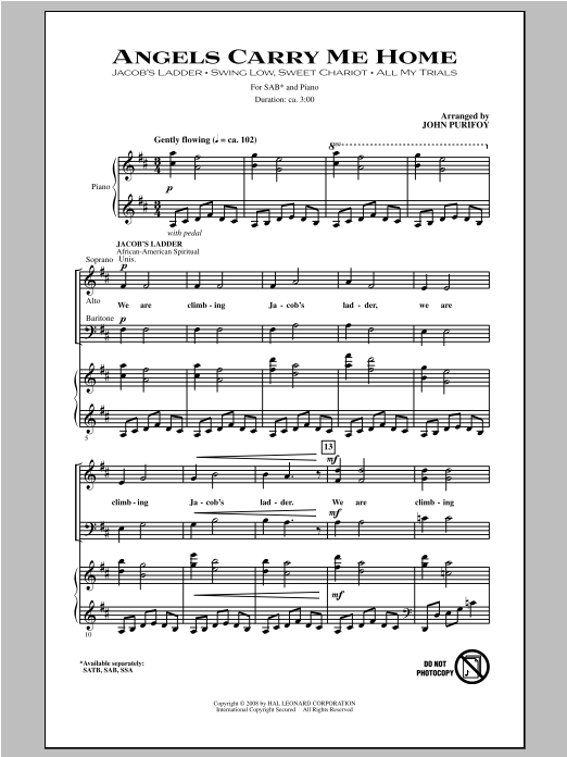 Angels Carry Me Home (Medley) Sheet Music