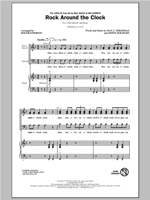 Rock Around The Clock (arr. Roger Emerson) Sheet Music