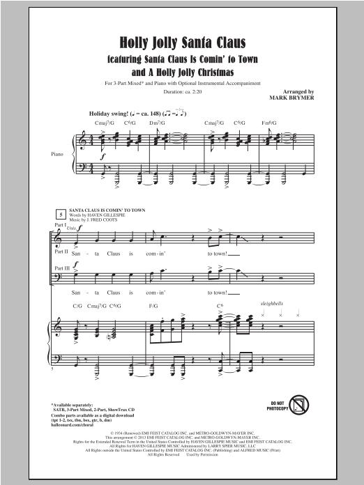 A Holly Jolly Christmas (3-Part Mixed Choir)