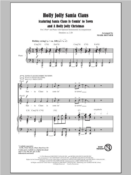A Holly Jolly Christmas (2-Part Choir)