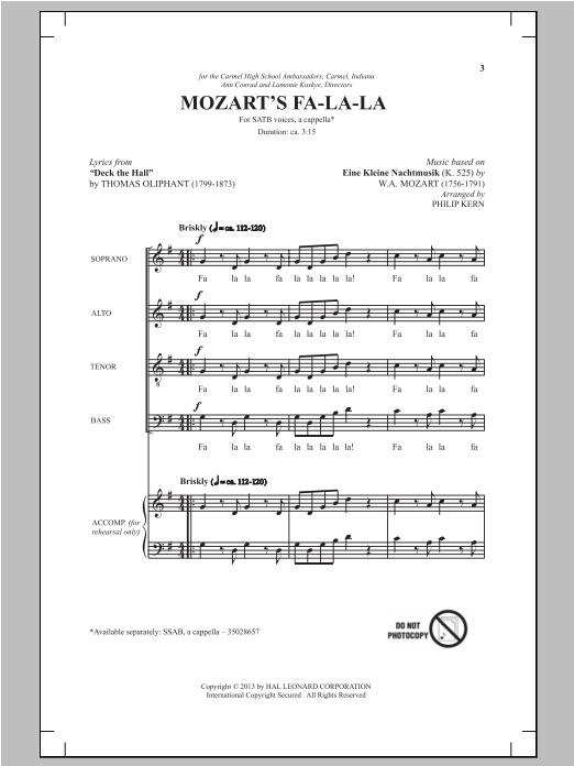 Mozart's Fa-La-La (SATB Choir)