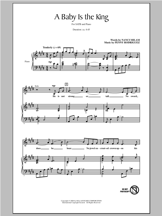 A Baby Is The King Sheet Music