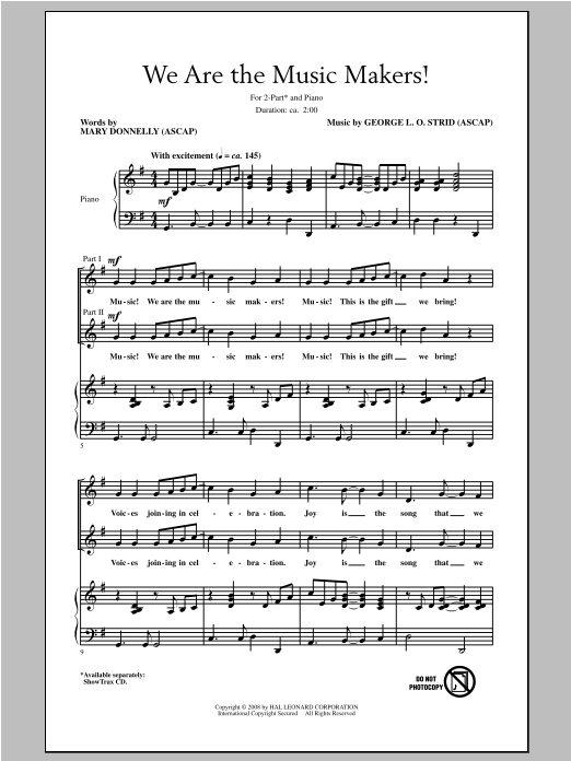 We Are The Music Makers! Sheet Music