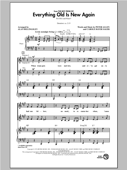 Everything Old Is New Again Sheet Music